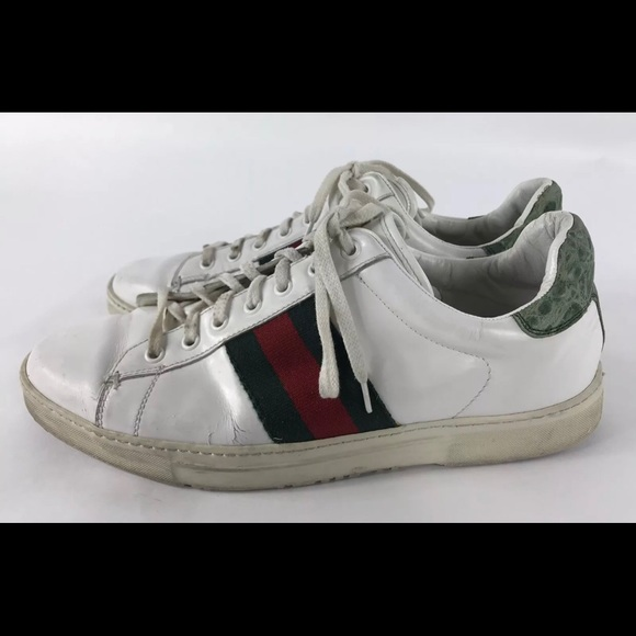 ec18c7797e8 Gucci Other - Gucci Ace White Leather Sneakers vintage 9.5
